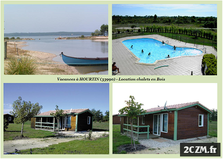 LOUE CHALET BOIS - 5 PERSONNES - HOURTIN (GIRONDE)